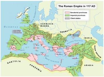 karta rimskog carstva